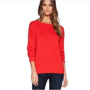 Vince XXS XS Solid Rib Tomato CASHMERE Sweater k5